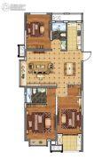 上城印象3室2厅2卫111平方米户型图