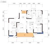 曲江・紫金城4室2厅2卫135平方米户型图