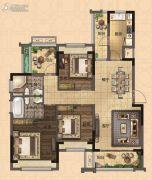 深惠颐景园3室2厅2卫115平方米户型图