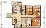合信地王广场3室2厅2卫0平方米户型图