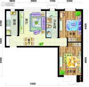 天庆国际新城2室2厅1卫93平方米户型图