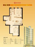 隆润国际2室1厅1卫64平方米户型图