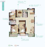 华丽家族太湖汇景3室2厅2卫140平方米户型图
