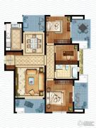 虹锦湾3室2厅1卫120平方米户型图
