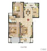 新田城2室2厅1卫89平方米户型图