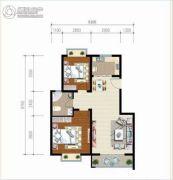 麒麟半岛2室2厅1卫83--94平方米户型图