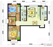 天庆国际新城3室2厅1卫97平方米户型图