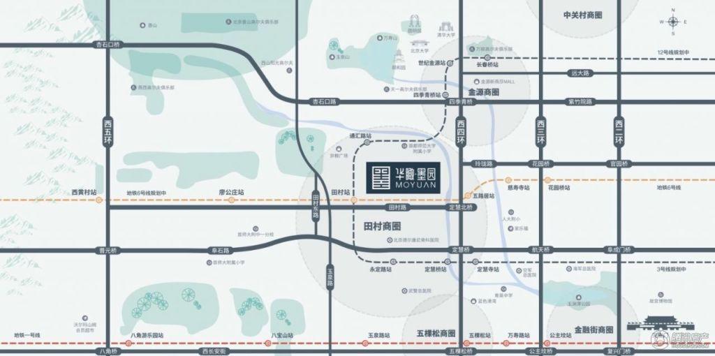 华瞰·墨园交通图