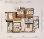 名爵世家3室2厅1卫98平方米户型图