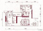 嘉兰轩2室2厅1卫87平方米户型图