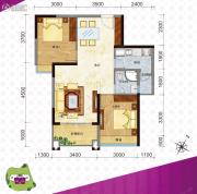 新都广场2室2厅1卫0平方米户型图