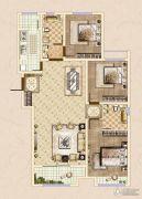 皓顺・华悦城3室2厅2卫124平方米户型图