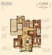 金地悦峰3室2厅2卫138平方米户型图