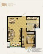 盛泽伯爵山1室1厅1卫70平方米户型图