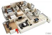 裕和天地4室2厅2卫148平方米户型图