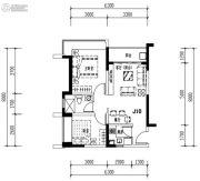 华发城建未来荟3室2厅1卫63平方米户型图