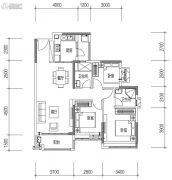 远洋天骄广场3室2厅2卫98平方米户型图