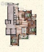 莲桥府3室2厅2卫155平方米户型图