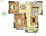 东郡华庭3室2厅1卫88平方米户型图