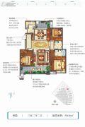 高新骊山下的院子3室2厅2卫120平方米户型图