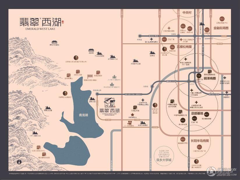 翡翠西湖区位图