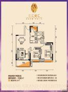 三江盛汇2室2厅1卫80平方米户型图