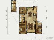 海河大观3室2厅3卫176平方米户型图