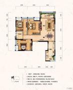 财信沙滨城市3室2厅1卫81平方米户型图