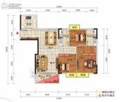 中惠松湖城3室2厅2卫95平方米户型图