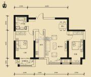 九星国际e世界2室2厅1卫101平方米户型图