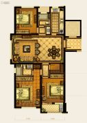 华鸿中央华府3室2厅2卫120平方米户型图