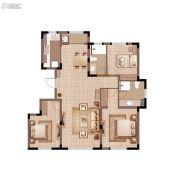 万科青年特区3室2厅2卫123平方米户型图