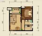 泰基巴黎春天1室1厅1卫64平方米户型图