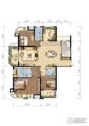 世茂香槟湖3室2厅3卫175平方米户型图
