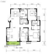 民生城・逸兰汐3室2厅2卫129平方米户型图