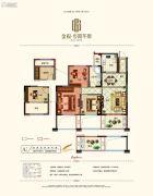 金报步阳华府3室2厅1卫85平方米户型图