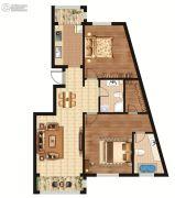 环龙湾2室2厅2卫124平方米户型图