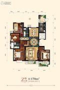 天海・博雅盛世4室2厅2卫170平方米户型图