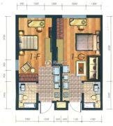 凯旋银河线1室1厅1卫35平方米户型图