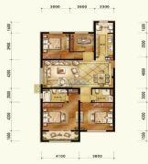 维多利大商城4室2厅2卫160平方米户型图