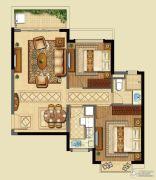 恒大山水城2室2厅1卫85平方米户型图