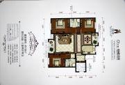 香槟小镇3室2厅2卫126平方米户型图