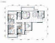中粮鸿云4室2厅2卫128平方米户型图