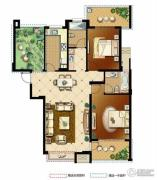 冠城大通蓝湾2室2厅2卫120平方米户型图