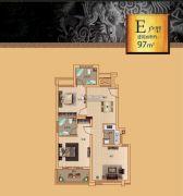 漓江盘龙湾2室2厅2卫97平方米户型图