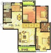 东方明珠3室2厅2卫142平方米户型图