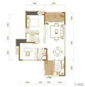 香江华府2室2厅2卫93平方米户型图