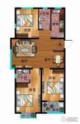 华普城3室2厅2卫112平方米户型图