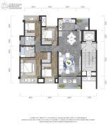 龙湖景粼玖序4室2厅2卫113平方米户型图