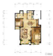 万邦名邸2室2厅1卫87平方米户型图